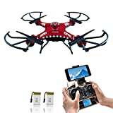 Drone with HD Camera, Potensic F183W 4CH Six-Axis RC Quadcopter Drone 2MP Camera Helicopter FPV 2.4GHZ Phone Quadcopter with WiFi, 360 Degree Rollover