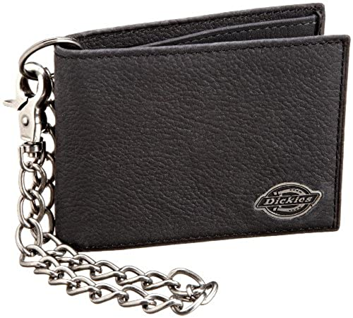 01. Dickies Men's Slimfold With Chain Wallet