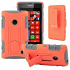 CellJoy® Nokia Lumia 520 (WILL NOT FIT LUMIA 521) Hard Case Protective Cover Skin [Future Armor] Ultra Fit Dual Protection Cover with Belt Clip Holster For Lumia 520 [Retail Packaged] (Orange / Gray)