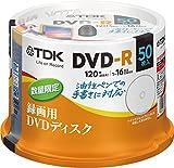 TDK 録画用DVD-R デジタル放送録画対応(CPRM) 1回録画用 1-16倍速 油性ペンでの手書きに便利な、タイトルライン付きディスク 50枚スピンドル DR120DFLC50PUD