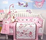 SoHo Love Bird Story Crib Nursery Bedding Set 10 pcs **Reversible Into Mord ....