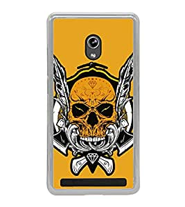 Skull Graffiti 2D Hard Polycarbonate Designer Back Case Cover for Asus Zenfone 6 A600CG