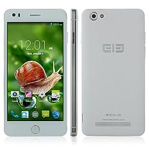 Elephone P6i débloqué 3G Smartphone 5.0 pouces QHD écran Android 4.4 MTK6582 OTG Dual SIM carte Dual caméra - Play Store - Blanc & Argent
