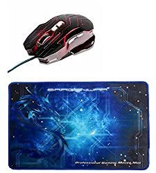 Dragon War ELE G12 3200 DPI Mouse with Auto Reload Function and Mouse Mat