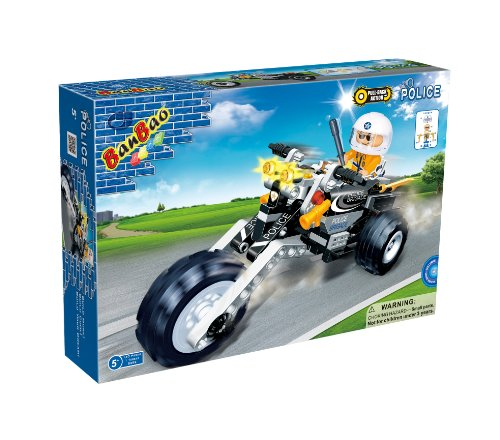 BanBao Police Chopper Toy Building Set, 140-Piece