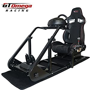 GT Omega ART Racing Simulator Cockpit RS9 Seat Suitable for the Thrustmaster T300RS TH8A shifter by GT Omega Racing
