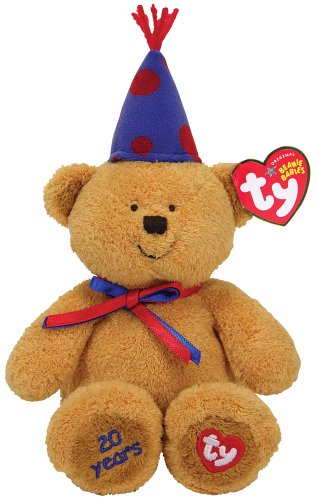 Ty Laughter - 20th Anniversary Bear with Blue Hat