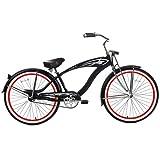 Micargi GTS Beach Cruiser Bike, Matte Black Falcon, 26-Inch
