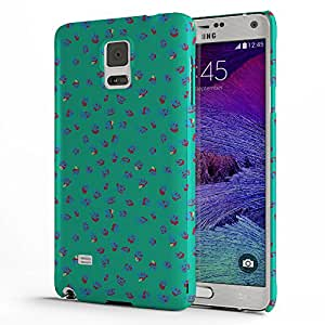 Koveru Back Cover Case for Samsung Galaxy Note 4 - Blue Green Ethy