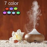 Amir® Ultrasonic Aromatherapy Essential Oil Diffuser Mist Humidifier with 7 Color Changing LED Lamps and Mist Mode Adjustment - Waterless Auto Off - Quiet Purifier Diffuser Air Humidifier - Portable for Home, Yoga, Office, Spa, Bedroom, Baby Room Size: M
