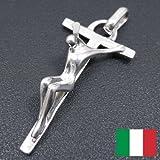 クロスのペンダントトップ 磔クロス イタリア:サツルノ社製:シルバー925