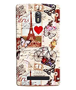 Clarks Eiffil Tower Pattern Hard Plastic Printed Back Cover/Case For Oppo Find 7