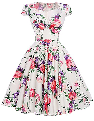 Sweetheart Housewife Pinup Garden Tea Dress Size L