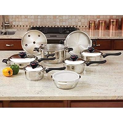 Chef's Secret KT915 15-piece 12-element T304 Stainless Steel Cookware