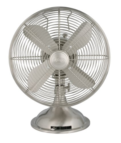 Find Cheap Hunter 90400 12-Inch Portable Table Fan, Brushed Nickel