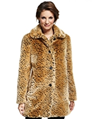 M&S Collection Faux Animal Fur Coat