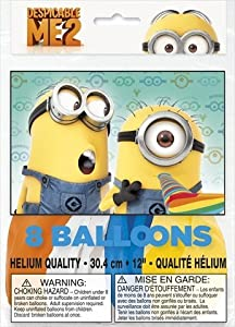 Unique Party Supplies - Despicable ME2 -8 Heliium Quality Balloons