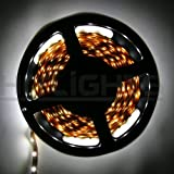HitLights Cool White Flexible Ribbon LED Strip Light, 300 LEDs, 5 Meters (16.4 Feet) Spool, 12VDC Input (Adapter not included)