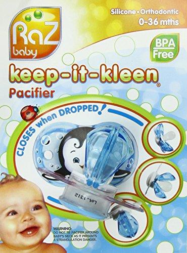 Razbaby Keep-It-Kleen Pacifier, Adam Airplane, 0-36 Months