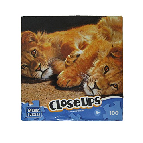 Mega Puzzle Close-Ups Kitty Cuddle 100-Pc Jigsaw Puzzle Lions - 1