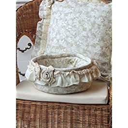 Cestino tondo in stoffa Angelica Home & Country Collezione Lady Rose
