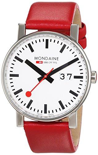 MONDAINE - A6273030311SBC - Montre Homme - Quartz - Analogique - Bracelet Cuir Rouge