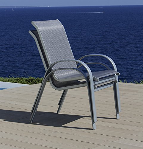 baumarkt direkt Stapelstuhl »Amalfi (2 Stück)« 2 Stühle, diamantfarben kaufen