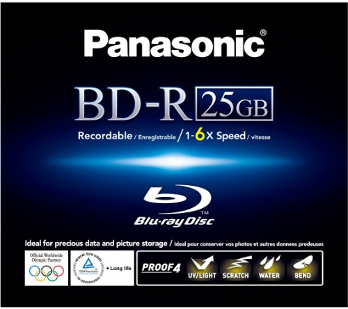 Panasonic LM-BR25MWE Blu-Ray (6x Speed, 25GB Inkjet Printable)