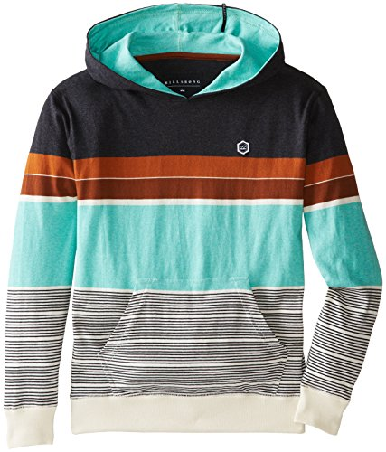 Billabong Big Boys' Spinner Jersey Pullover Hoodie, Clay Heather, Large front-1061173