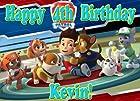 Paw Patrol Hero 1/4 Sheet Edible Photo Birthday Cake Topper. ~ Personalized!