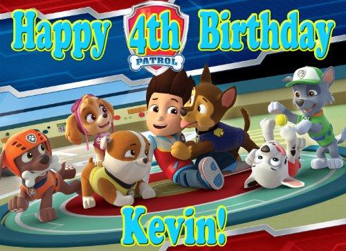 "Paw Patrol ""Hero"" 1/4 Sheet Edible Photo Birthday Cake Topper. ~ Personalized!"