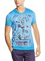 American People Camiseta Manga Corta Tombla (Azul)