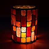 EarthenMetal Handcrafted Red Colored Tiled Style Mosaic Design Tealight Holder (Candle Light Holder) - B018IJ46VI