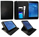 Fusion5 Ultra Slim Windows Tablet PC 10 Inch Black Universal 360 Degree Rotating PU Leather Wallet Case Cover Folio by Sweet Tech