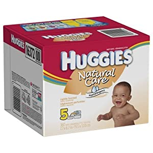 Huggies Natural Care Lightly Scented Baby Wipes - 360 Count Refill