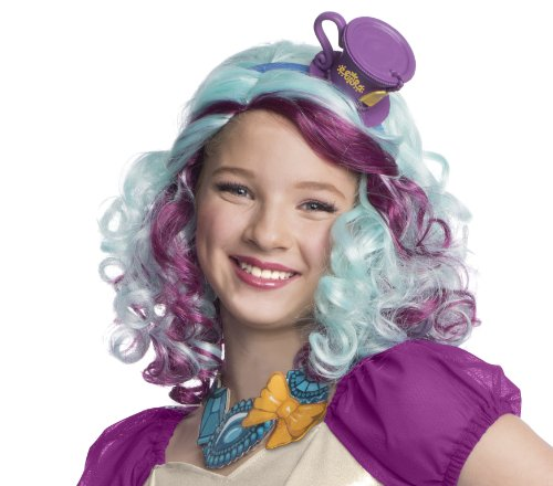 Rubies Ever After High Child Madeline Hatter Wig with Headpiece - 1