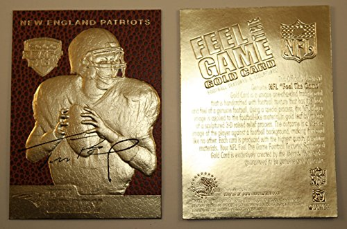TOM BRADY 2000 Draft Pick FEEL THE GAME Gold Card Rookie NM-MT Football Textured (Gold Football Cards compare prices)