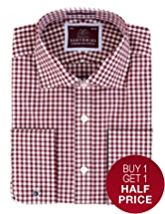 Sartorial Pure Cotton Bold Gingham Checked Shirt