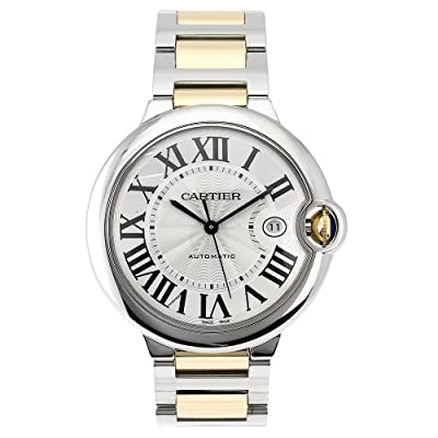 Cartier Men's W69009Z3 Ballon Bleu Stainless Steel and 18K Gold Automatic Watch