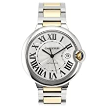 Cartier Men s W69009Z3 Ballon Bleu Stainless Steel and 18K Gold Automatic Watch