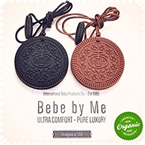 ★★ BEST Baby Teether - Organic Silicone Cookies ♥ TWO Count & 2 FREE Teething Necklaces - BPA Free ♥ Pediatrician Recommended Teething Toys for Infants