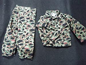 Barbie Ken Action Man G.I. Joe Doll clothes army Camouflage - 2 piece trousers & jacket outfit - posted from London by Fat-Catz