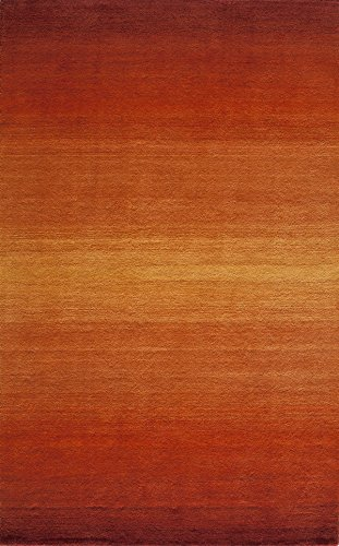 "Momeni Rugs METROMT-12PAP3353 Metro Collection, 100% Wool Hand Loomed Contemporary Area Rug, 3'3"" x 5'3"", Paprika"