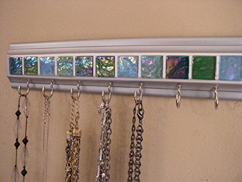3-sizes-availablenecklace-hanger-key-rack-with-glass-tile-in-the-colors-of-sea-glass