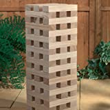 1.2M Giant Wooden Tumbling Jenga Tower 60 Solid Pieces Outdoor Garden Family Fun