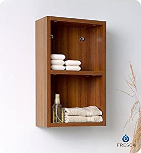 fresca small bathroom linen side cabinet with