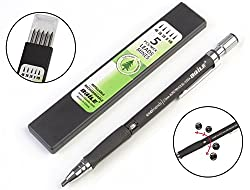 Baile 2.0mm Mechanical Auto Pencil + Lead Box (5 Leads) - Body Color Black