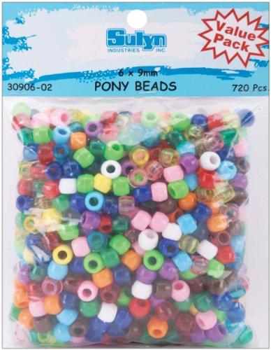 Pony Beads 6mmx9mm 720/Pkg - 1