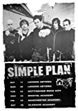 SIMPLE PLAN TOUR POSTER Amazing Group Shot RARE 24X36