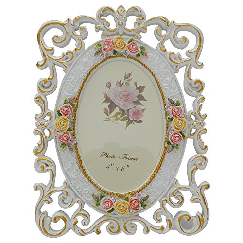 Giftgarden® Cornici Foto Ovale Fiori Cinti 10 x 15 cm